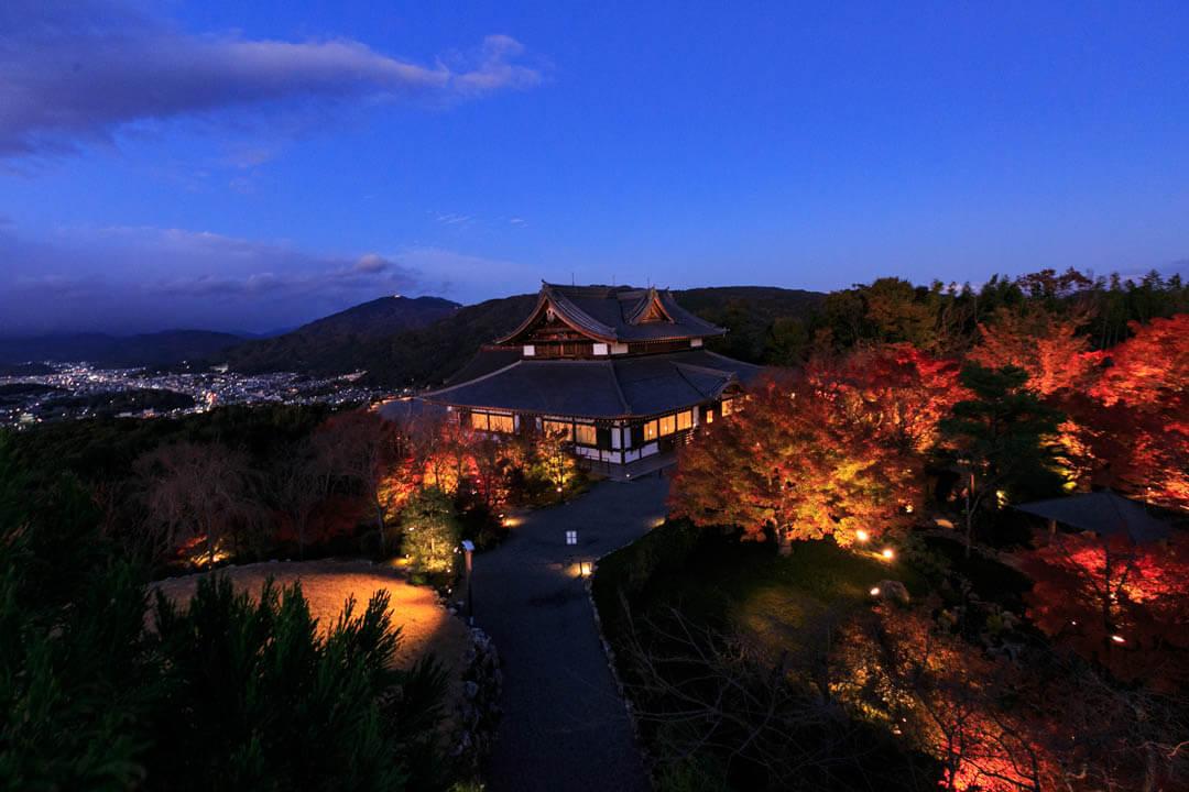 将軍塚西展望台からの眺め/夜景バージョン
