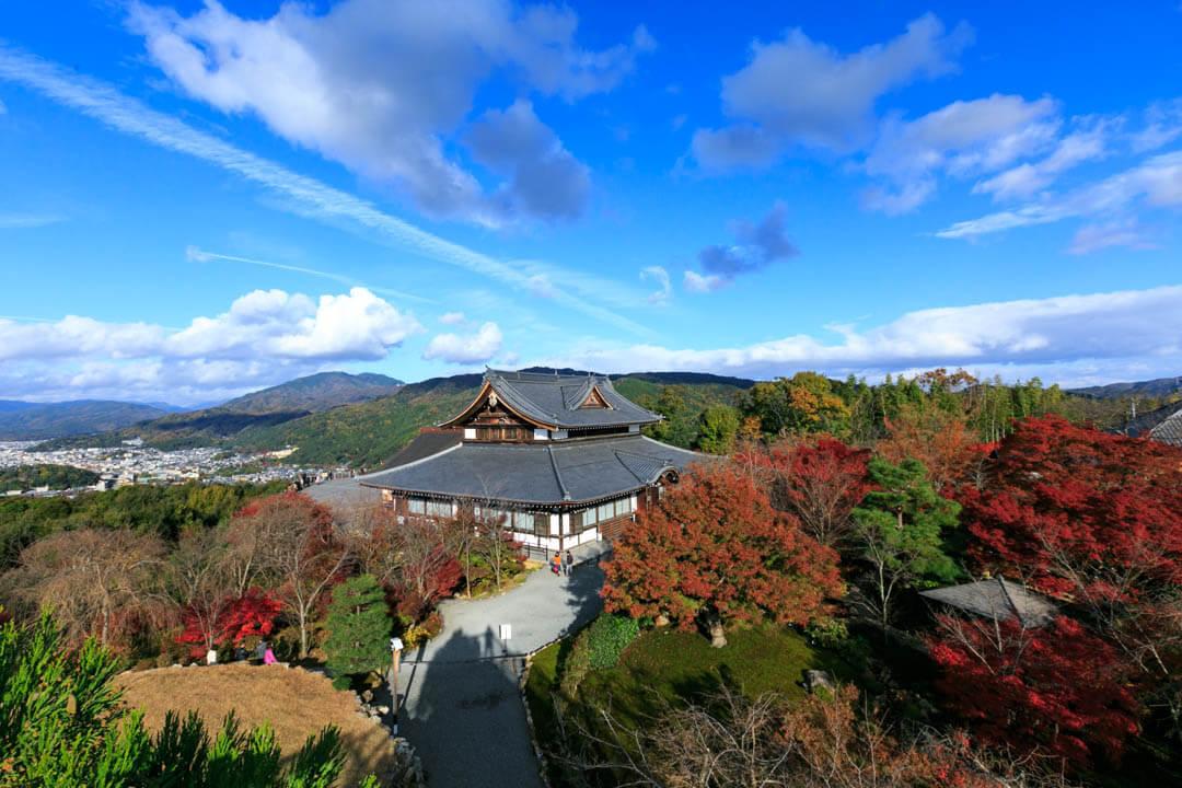 将将軍塚西展望台からの眺め/日中バージョン