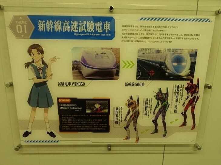 エヴァンゲリヲン新幹線の第一号車で展示されてる展示物その1