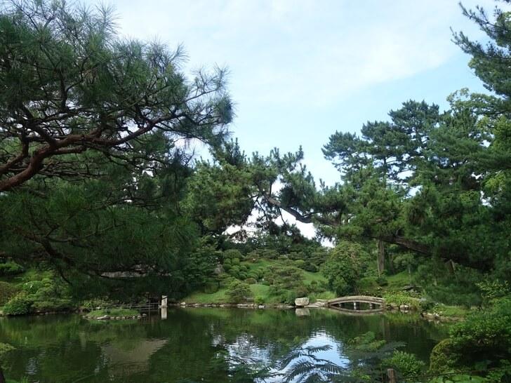 縮景園の園内の写真その1