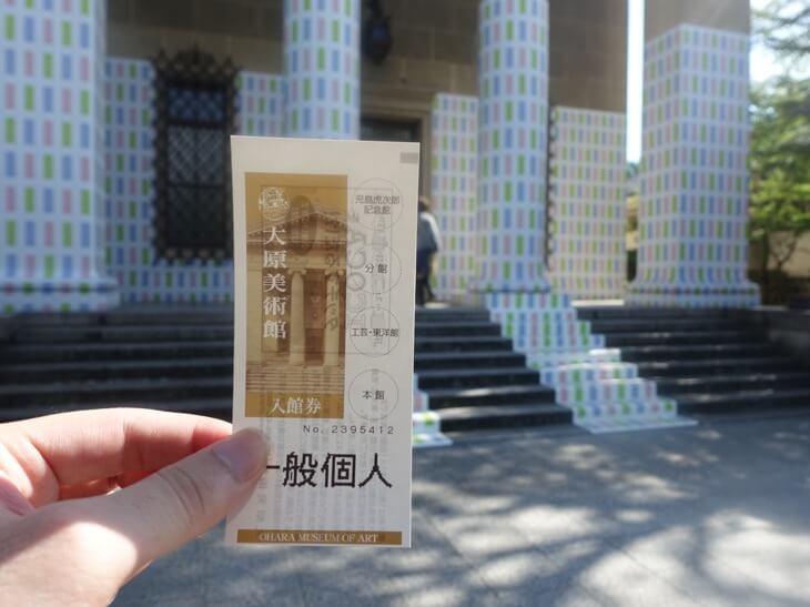 大原美術館の入場券の写真