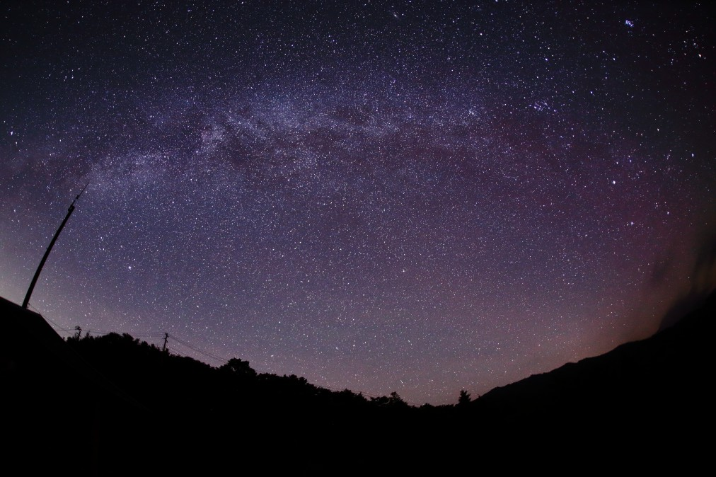 阿智村から見た星空の写真