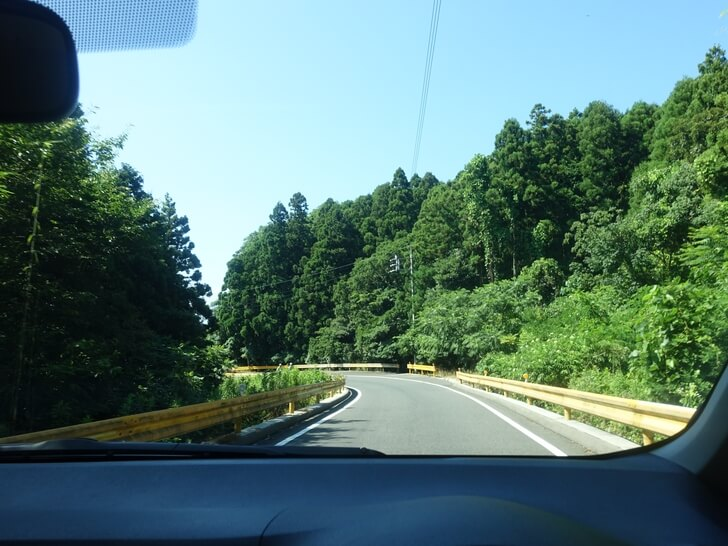 元乃隅稲成神社へ向かう道中の写真①