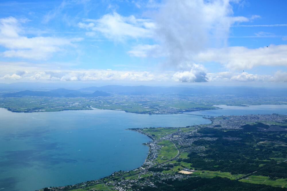 びわ湖バレイのリフトからの眺めを撮影した写真