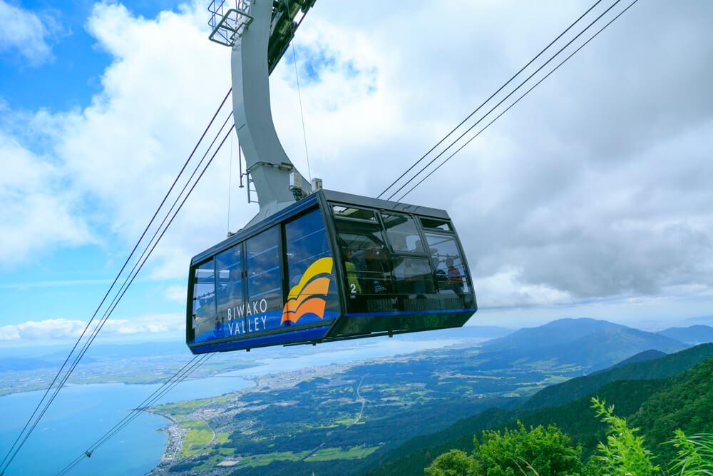 琵琶湖テラスのロープウェイの写真