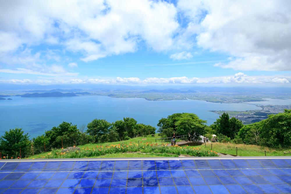 びわ湖テラス2階席からの眺めを撮影した画像
