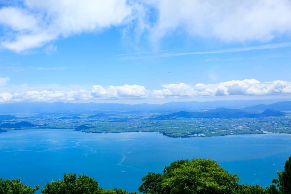 びわ湖テラスから眺める琵琶湖の画像