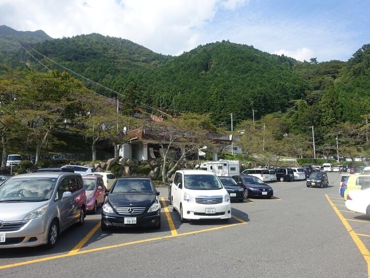 びわ湖バレイの駐車場の写真