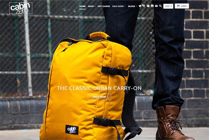 Cabin ZEROのwebサイトのキャプチャー画像