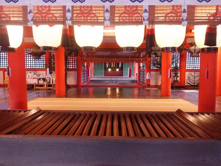 厳島神社の参拝中の写真その4