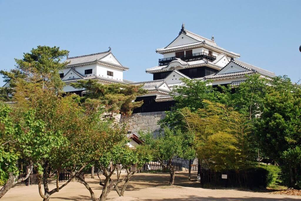 愛媛県に松山城の写真