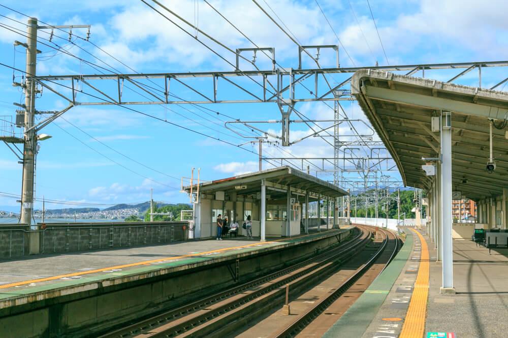JR志賀駅のホームの写真