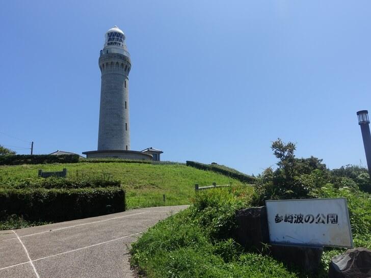 角島の灯台を撮影した写真