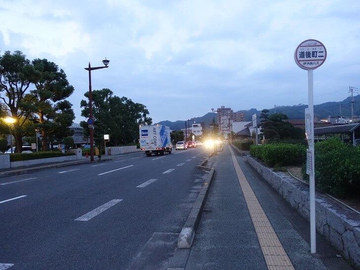 道後温泉街へ向かう道中の写真