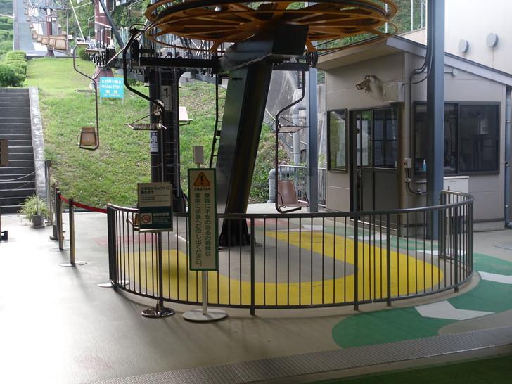 松山城ロープウェイ乗り場の写真
