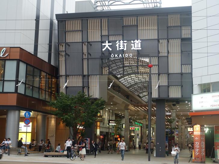 松山の大街道を撮影した写真