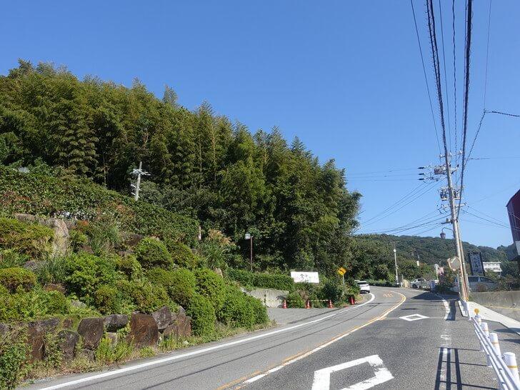 和カフェたらそへ車で向かう途中の写真
