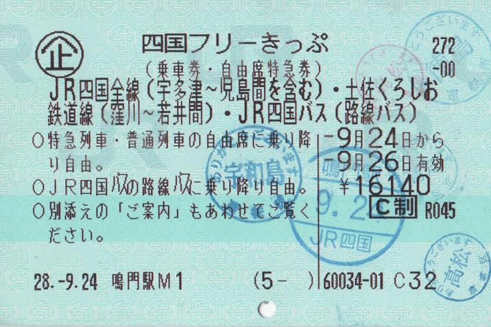 四国フリーきっぷの写真