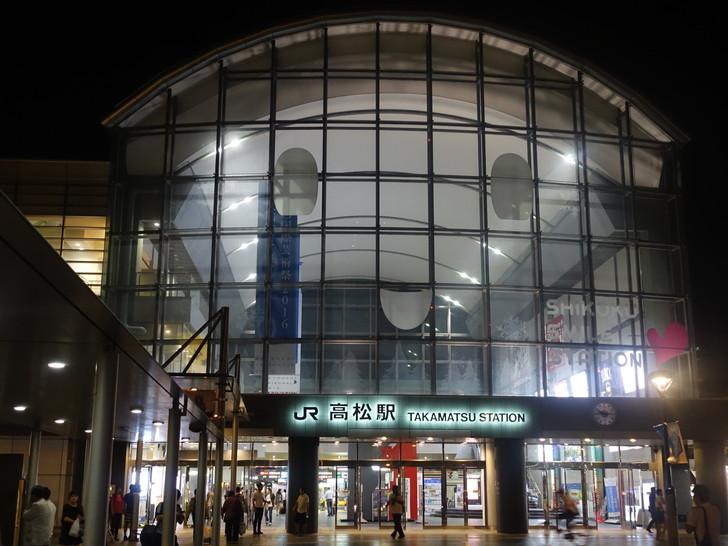 高松駅の外観の写真