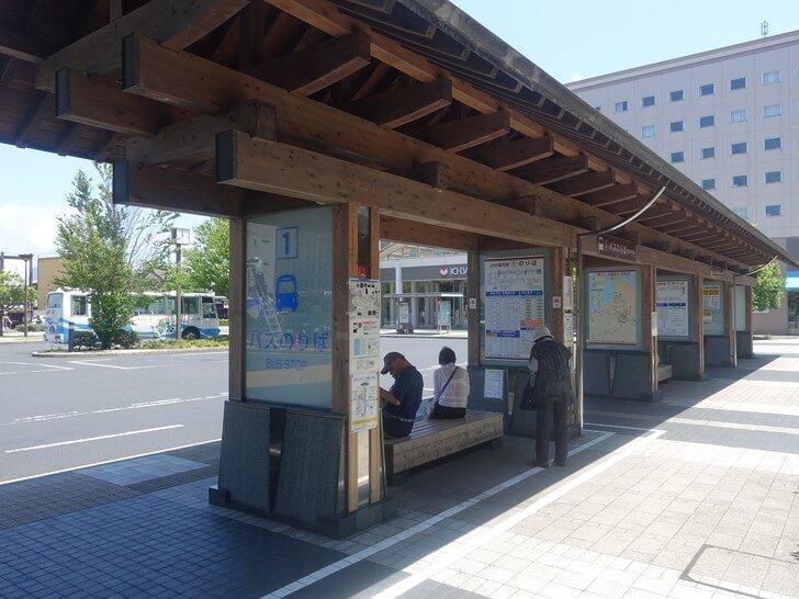 出雲市駅のバス停の写真