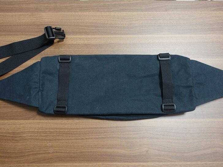 モジュールをバックパックに取り付ける方法を説明した写真