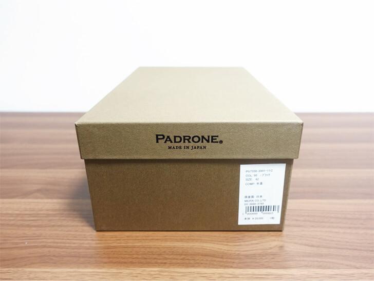 パドローネ・プレーントゥーシューズの外箱