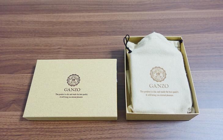 ガンゾの財布が入った化粧箱の写真