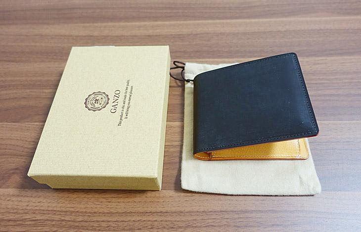 ガンゾのシンブライドル二つ折り財布の写真