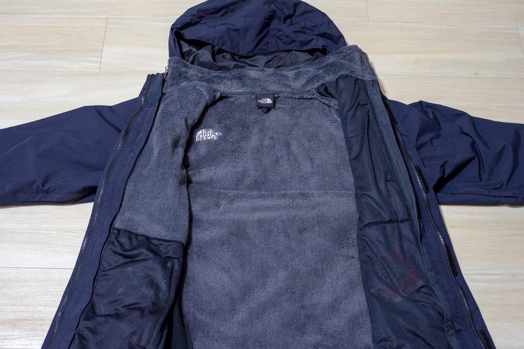 スクープジャケットのジップインジップシステムを紹介する写真