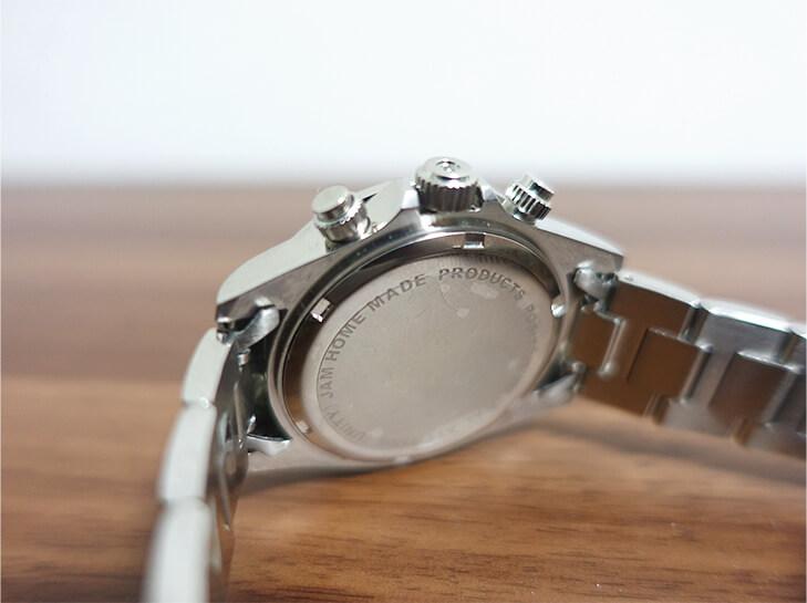 ジャムホームメイドの腕時計のベルトを撮影した写真
