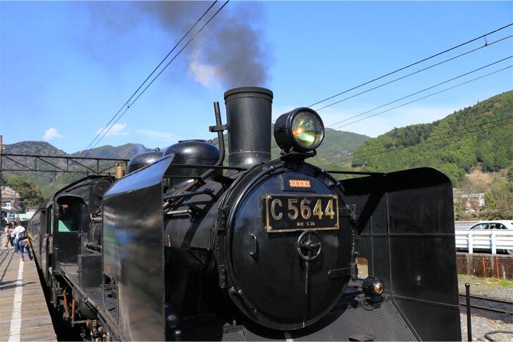 大井川鉄道のSL列車の写真