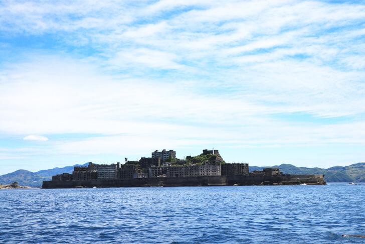 軍艦島の絶景ビューからの写真