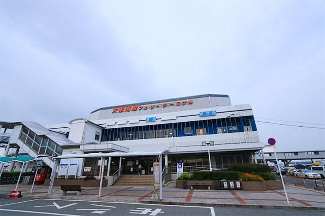 大阪南港の船内の写真