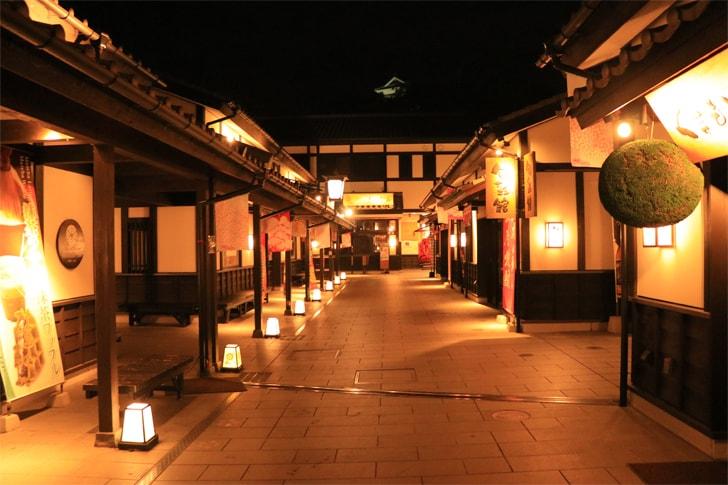 熊本観光の名所・城彩苑の写真