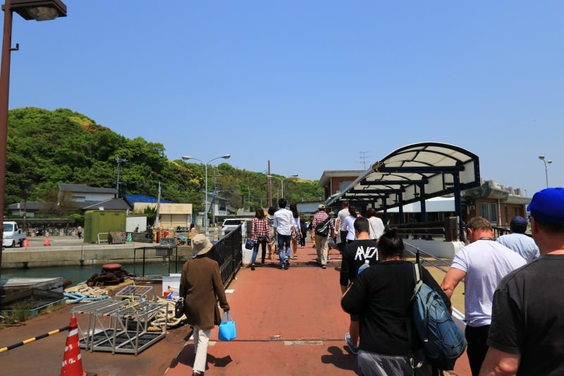 能古島の桟橋の写真