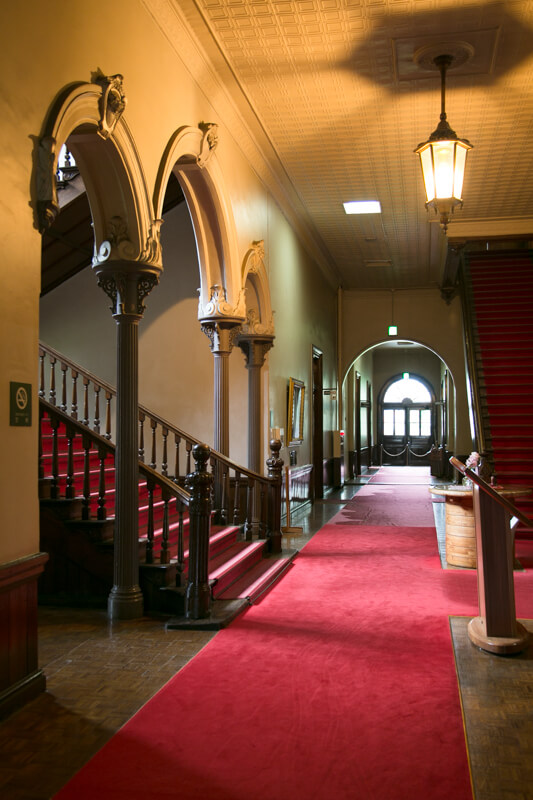 北海道庁旧本庁舎の廊下の写真
