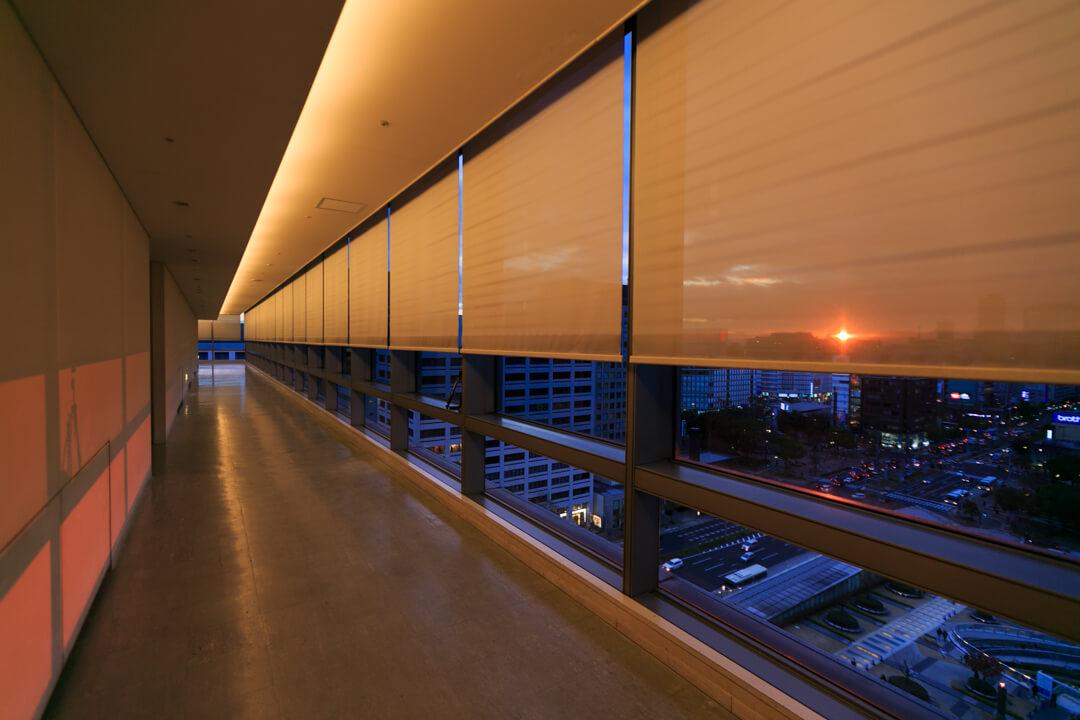 愛知芸術文化センターの展望回廊の写真