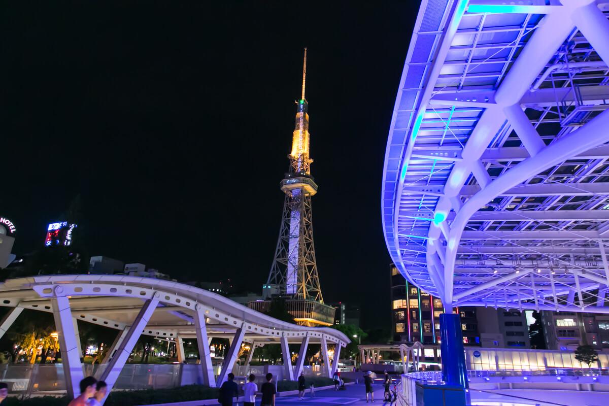 オアシス21とテレビ塔の写真
