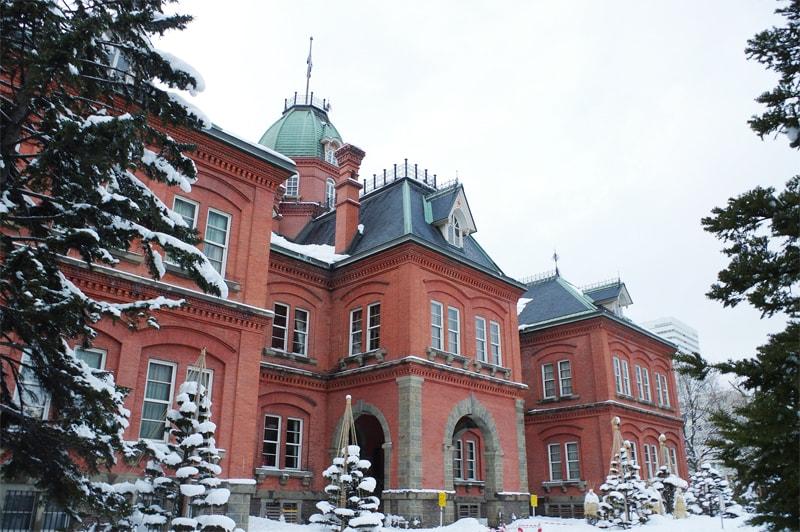 冬の北海道庁旧本庁舎の写真