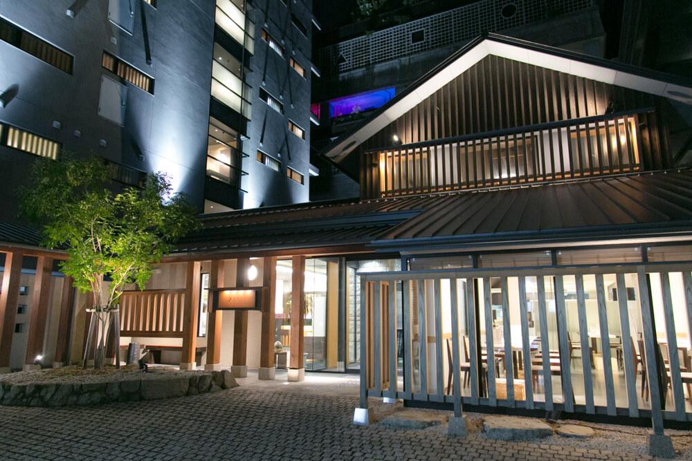 道後温泉の人気ホテル「道後やや」の外観の写真