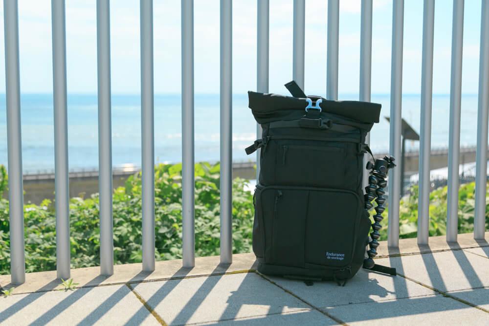 カメラバッグ「endurance」と海