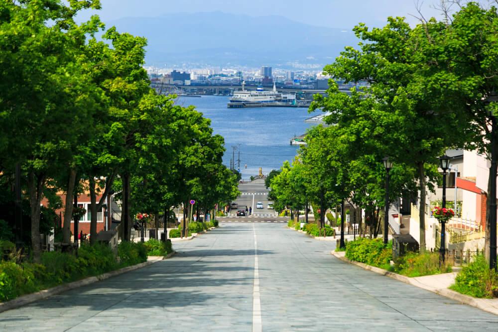 函館元町エリアの八幡坂の写真