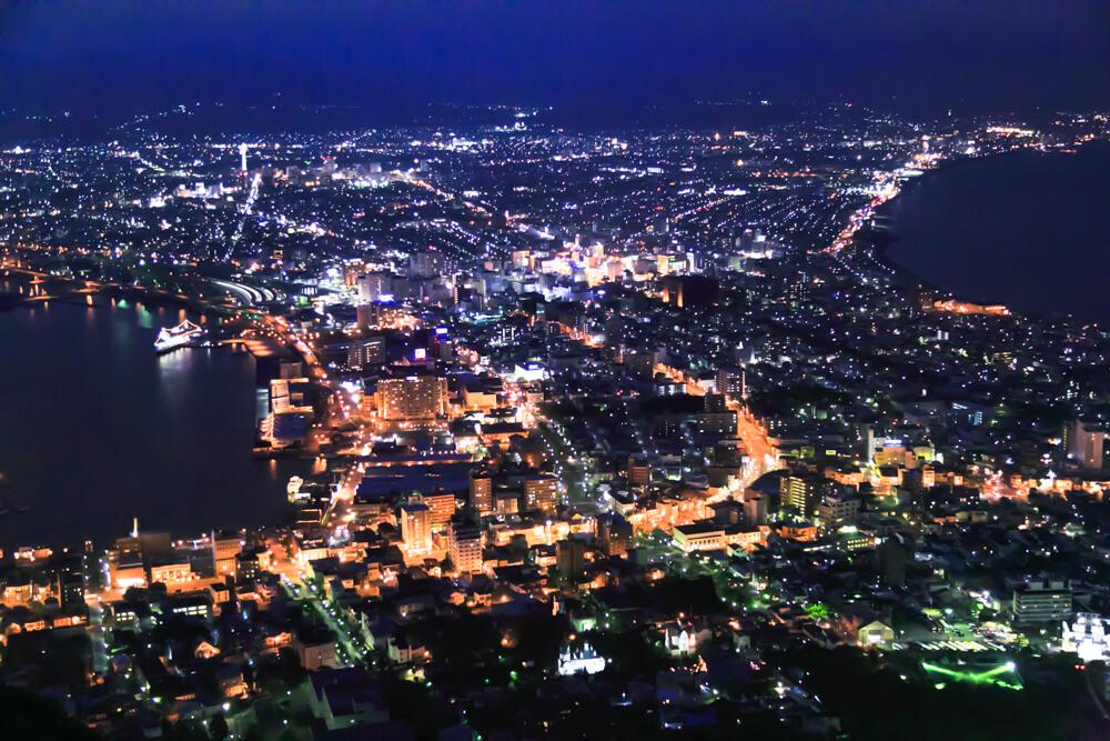函館山からの夜景の写真
