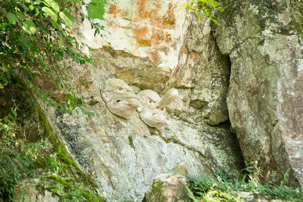 奥社・奥社厳魂神社にある天狗岩の写真