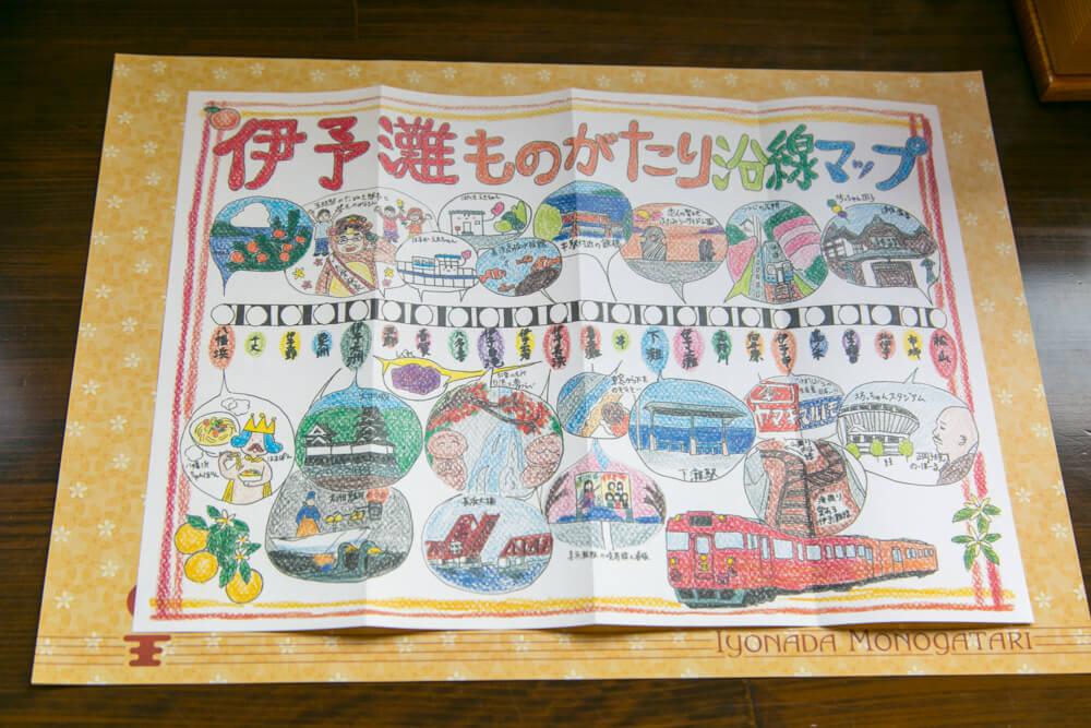JR四国予讃線の注目ポイントを紹介したイラスト