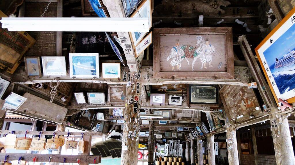 金刀比羅宮の絵馬堂の写真