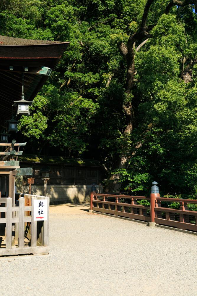 こんぴらさんの奥社・奥社厳魂神社の入り口の写真