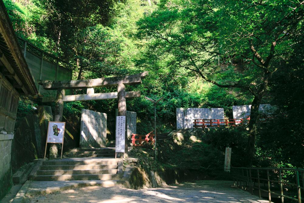 こんぴらさんの奥社・奥社厳魂神社の参道の写真