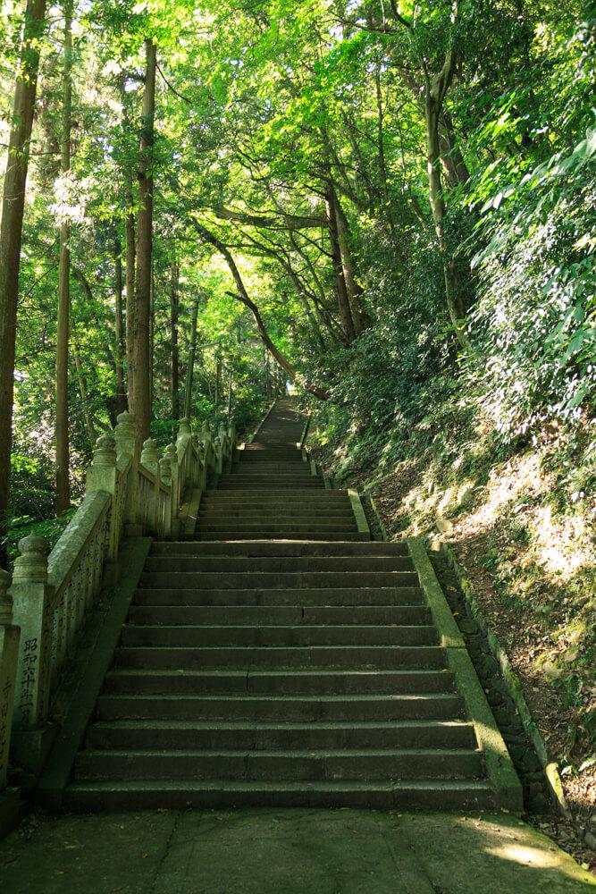 奥社厳魂神社へ向う参道の写真