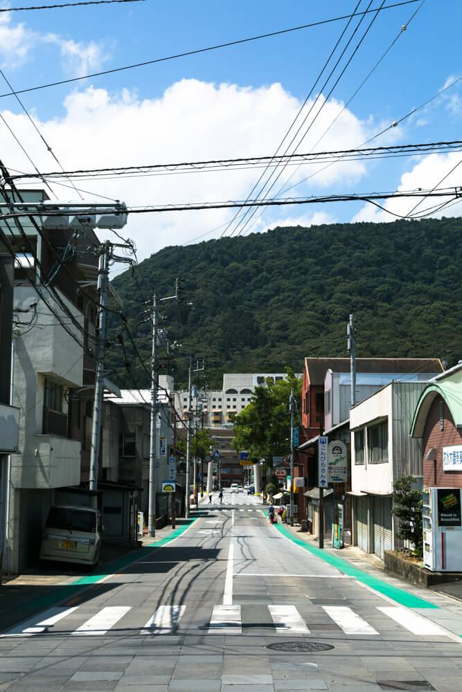 琴平駅からこんぴらさんへ向かう途中の写真その1